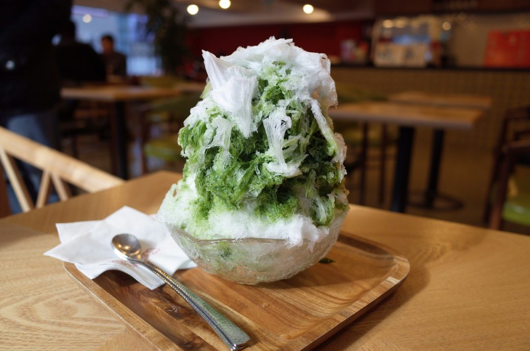 Japanese Matcha shaved ice