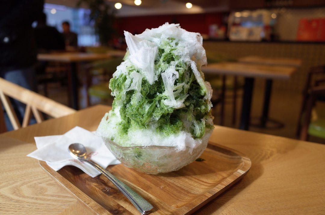 Japanese Matcha shave ice