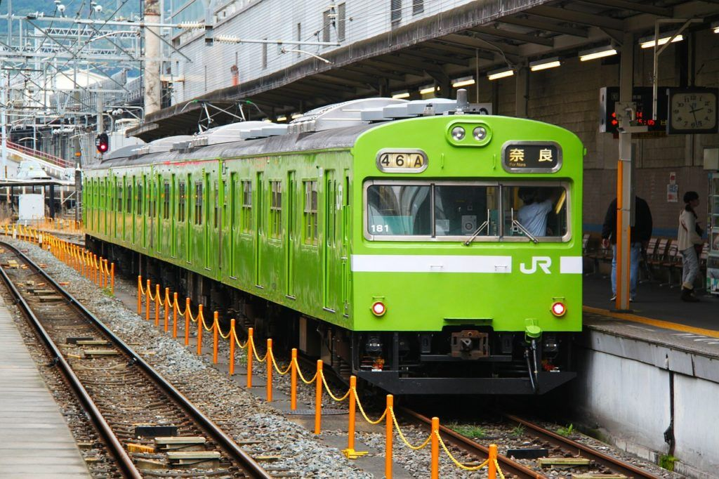 Green train in Nara, Japan - Nara Itinerary or Nara day trip