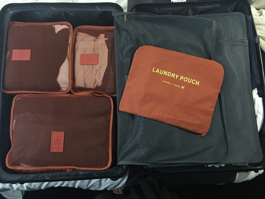Packing cubes and laundry pouch