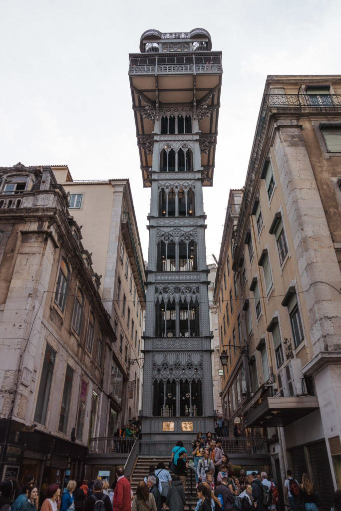 The Santa Justa Lift in Lisbon