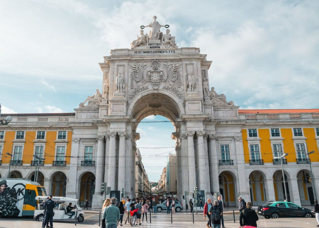 Praça do Comércio arch in Lisbon, Portugal