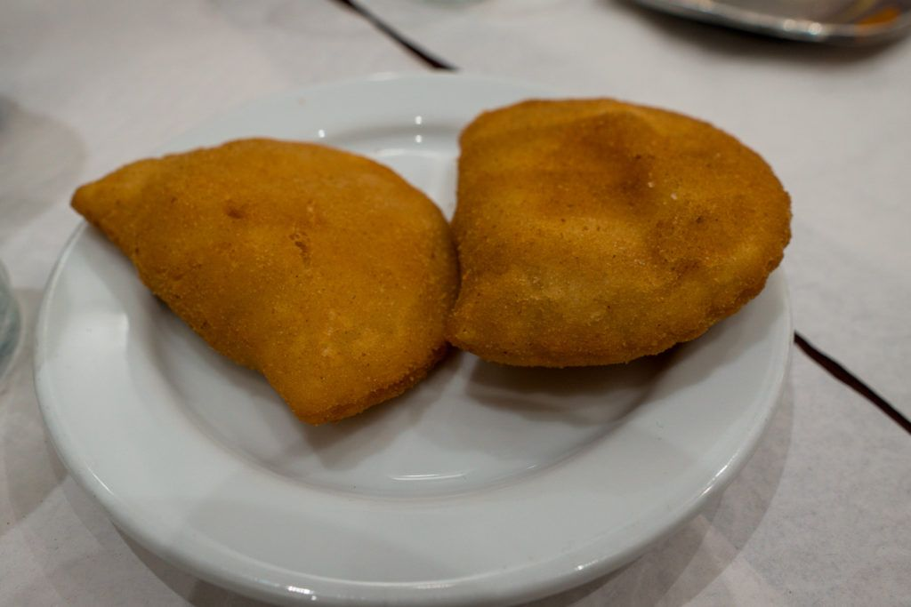 Fried shrimp croquettes at Taste of Lisboa food tour