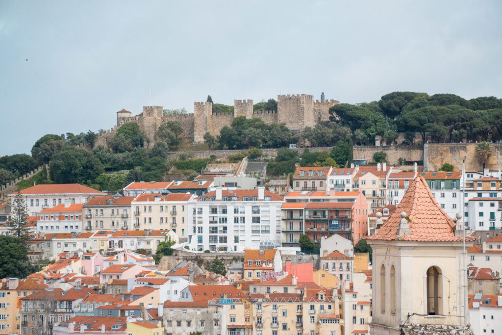 View of São Jorge Castle in Lisbon, Portugal