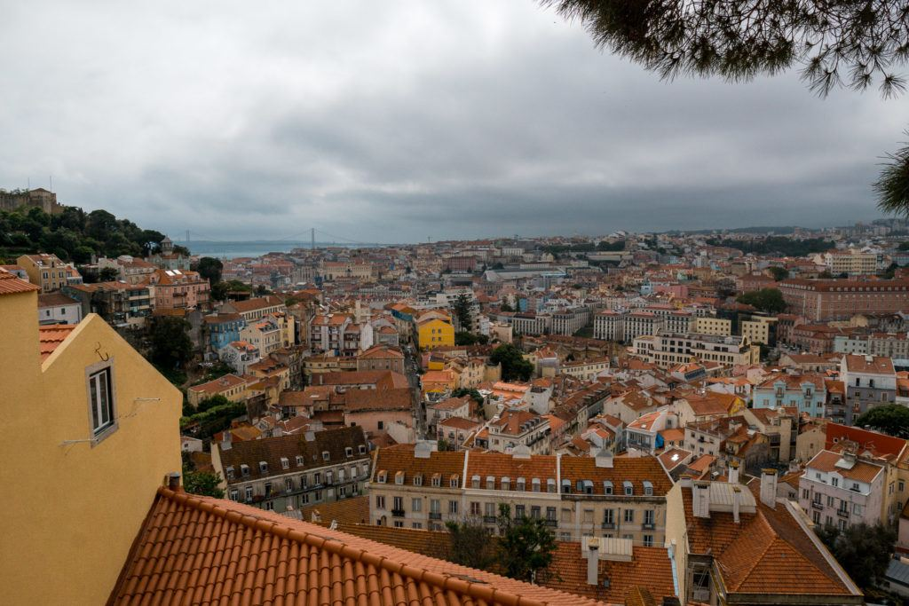 View from Miradouro Sophia de Mello Breyner Andresen in Lisbon, Portugal