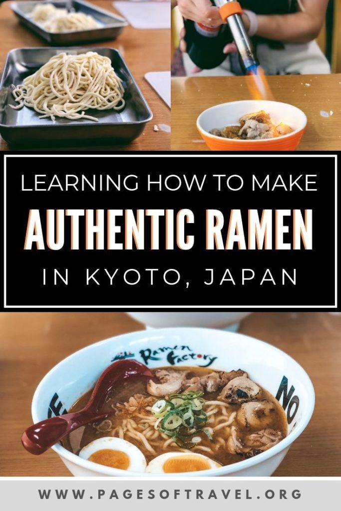 If you are a foodie and are seeking a unique experience to enjoy while in Japan, look no further than Ramen Factory Kyoto where you will learn to make your own bowl of authentic Japanese ramen from scratch!