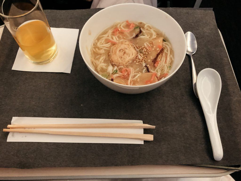 Bowl of Ramen on JAL Business Class