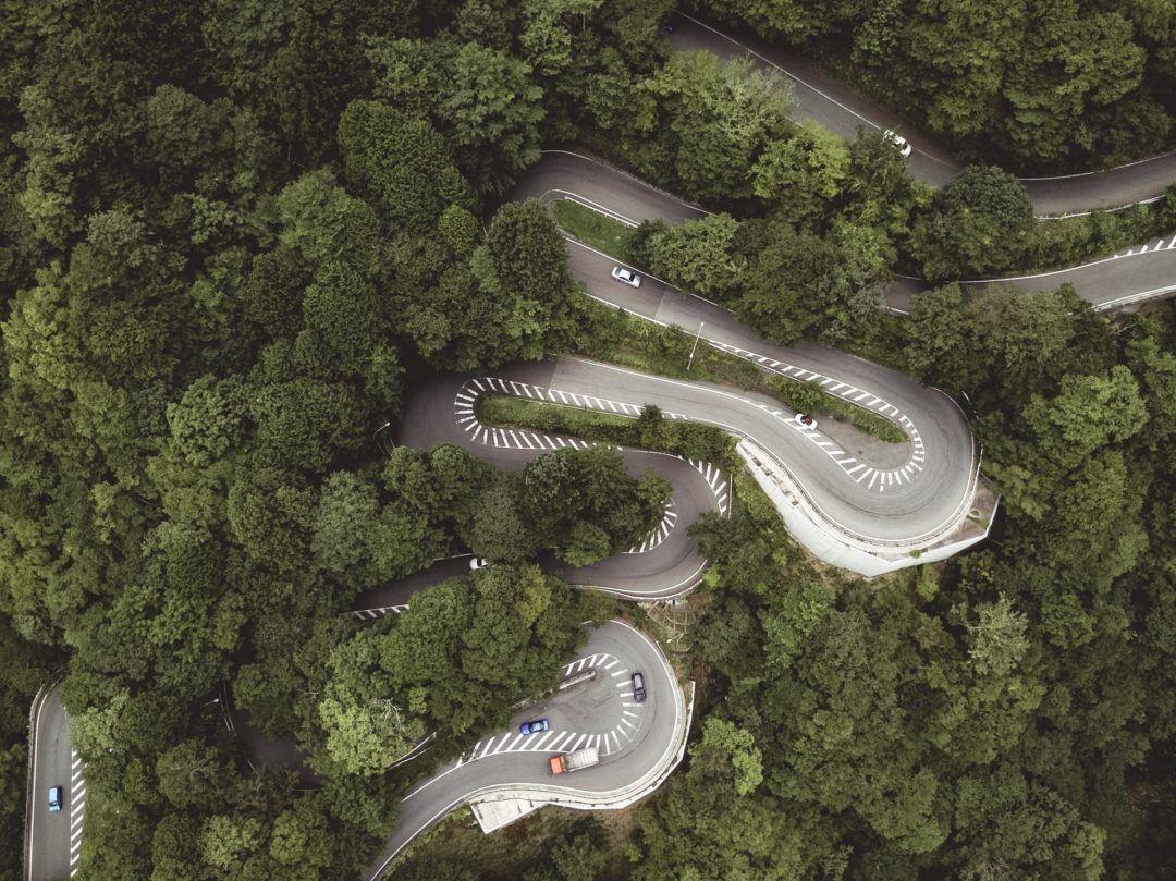 Irohazaka Driving Route in Nikko.