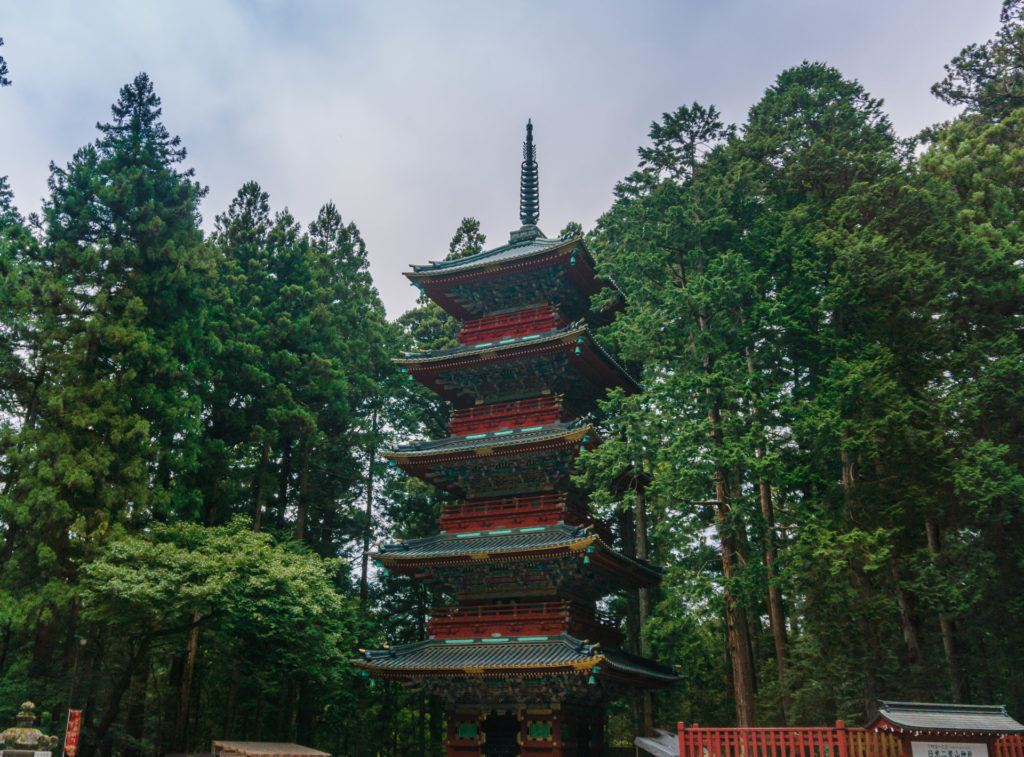 Five Story Pagoda at Toshogu Shrine in Nikko, Japan