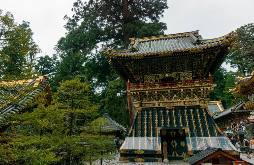 Mausoleum at Toshogu Shrine in Nikko, Japan.