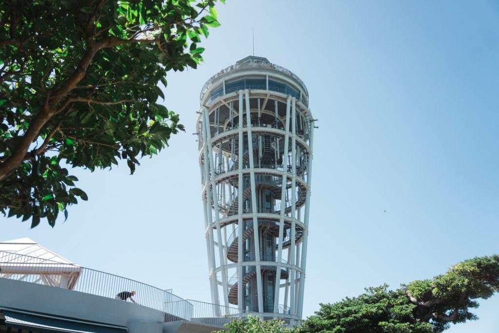 Observation tower at Samuel Cocking Garden on Enoshima Island.