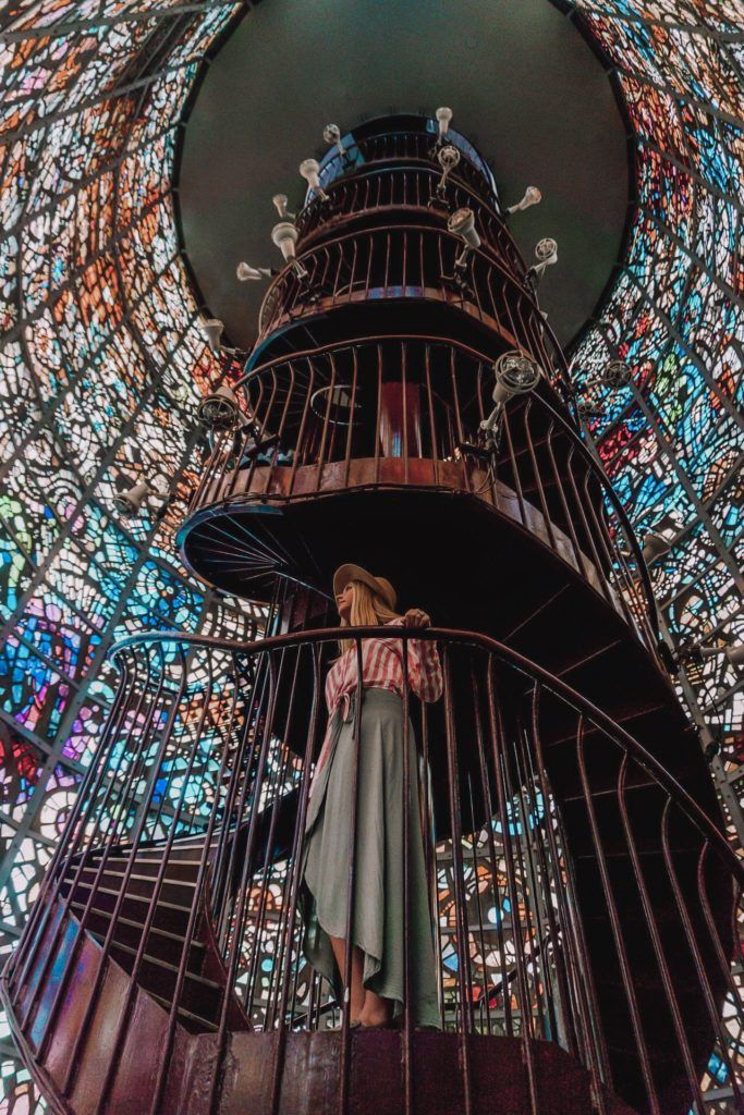 Stained glass staircase at the Hakone Open-Air Museum