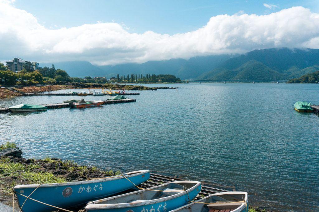 Lake Kawaguchi in the Fuji Five Lakes Region.