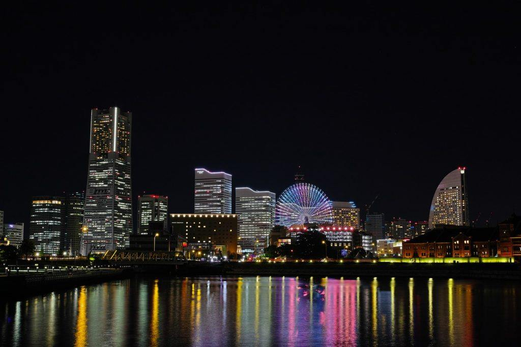 View of Yokohama from the Osanbashi Pier.