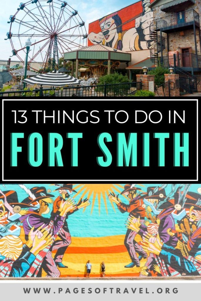 Recently Downtown Fort Smith has been revamping many of its historical sites and sprucing up the buildings downtown with colorful street art. Citizens of Fort Smith embrace the contrast between the old and new of their town and it will be easy to fall in love with Fort Smith as a visitor as well. These places to visit, eat, stay, and other things to do in Fort Smith, Arkansas  are perfect for a weekend trip or short stay.