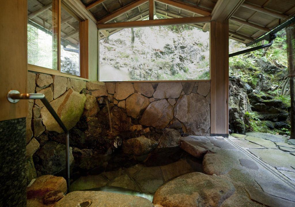 Private onsen at Nishimuraya Honkan