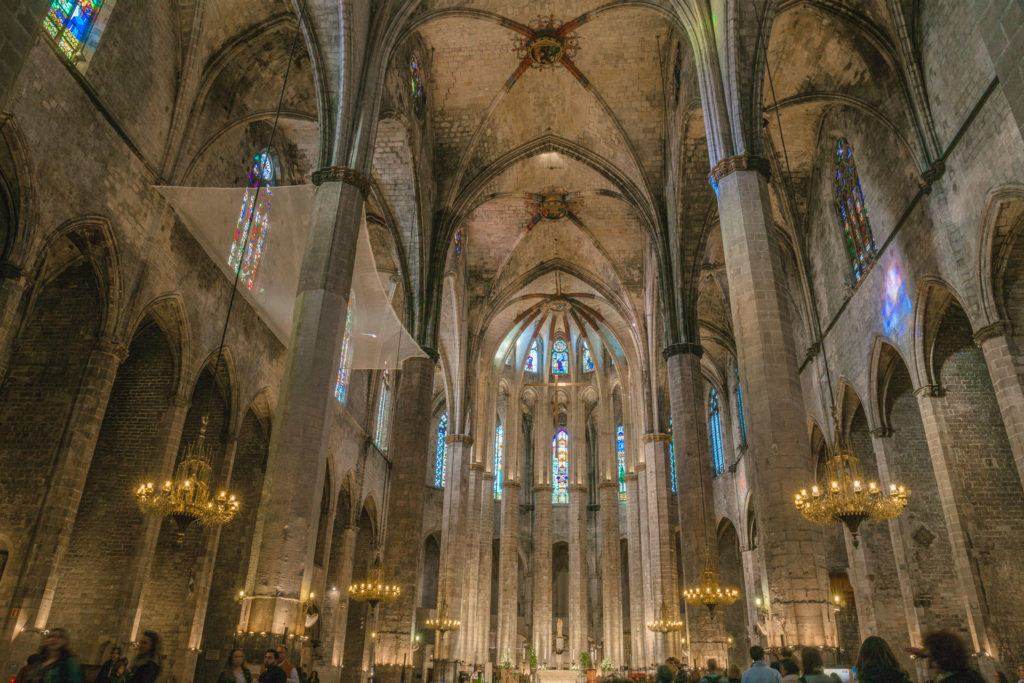 Inside of Cathedral of Barcelona.