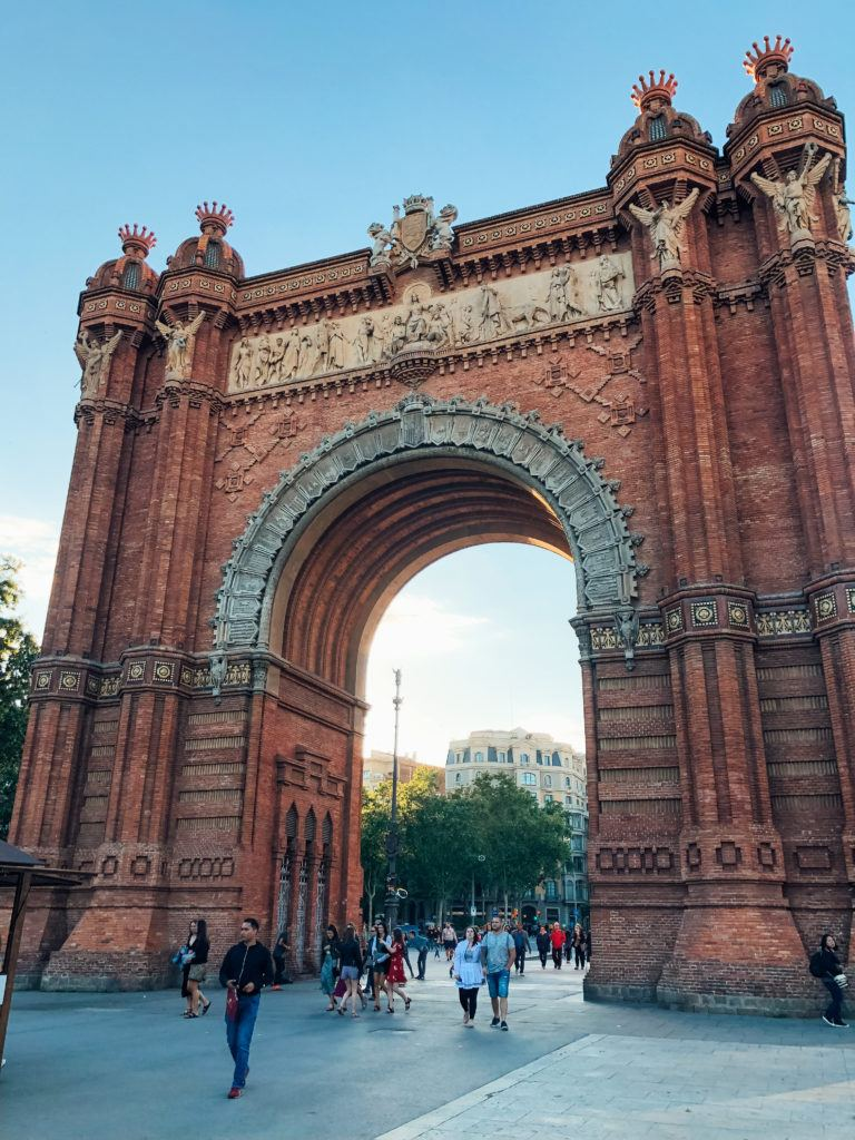 Arc de Triomf is something to see during 2 days in Barcelona