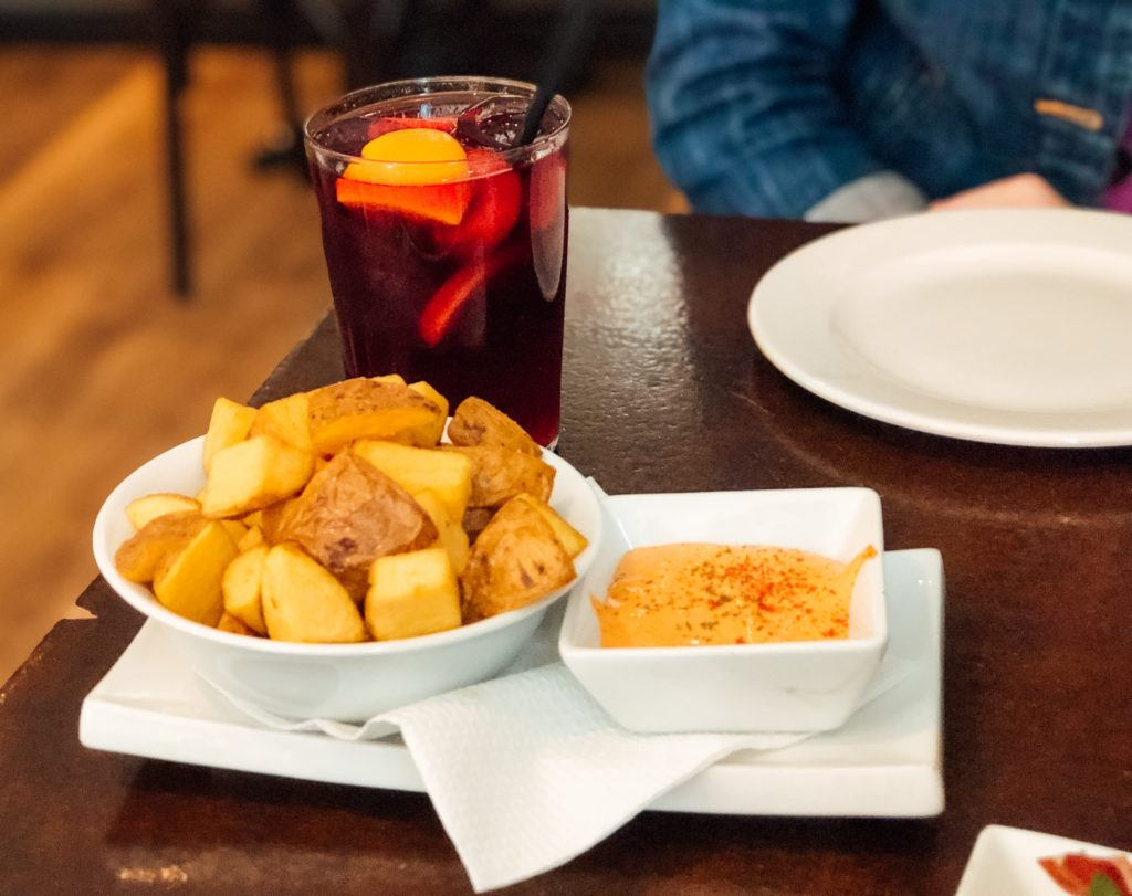 Patatas bravas at Tosca Tapas y Vino - Barcelona