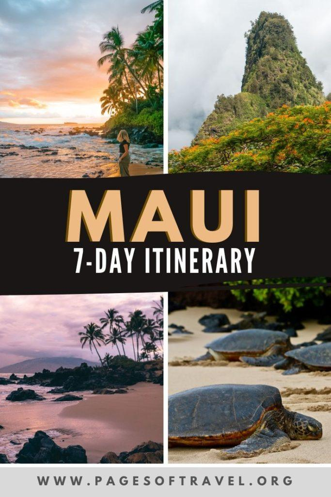 This 7-day Maui itinerary is full of things to do in Maui, where to stay, the best beaches, packing tips for Hawaii, and tons of great places to eat in Maui.
