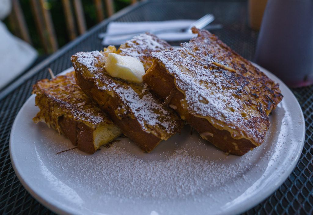 Coconut Crusted French Toast at Grandma's Coffeehouse in Maui.