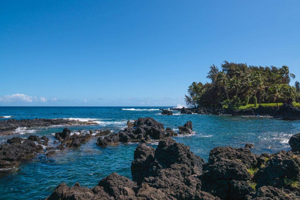 Ke'anae Lookout on the Road to Hana in Maui.