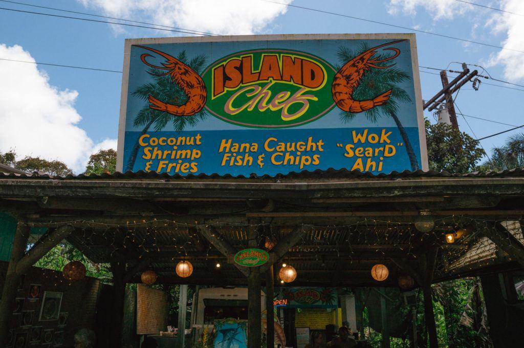 Nahiku Marketplace on the Road to Hana in Maui.