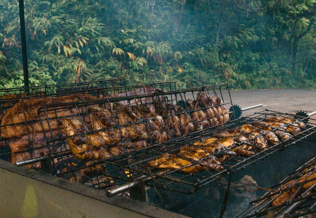 Roadside Barbecue at Nahiku Marketplace on the Road to Hana in Maui.