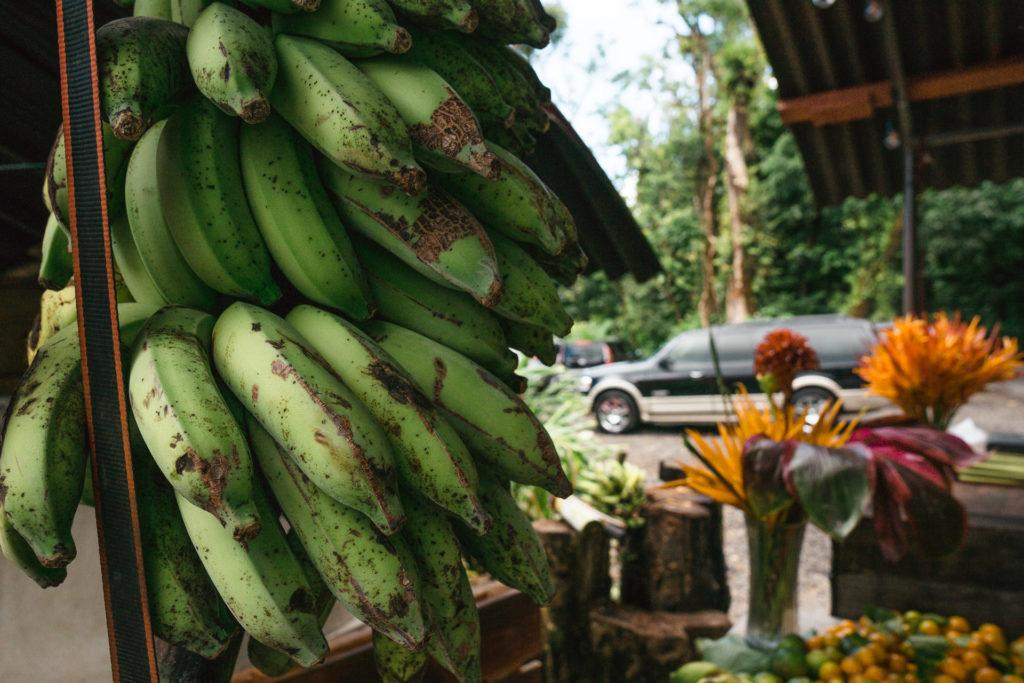 Fresh fruit at Nahiku Marketplace on the Road to Hana in Maui.