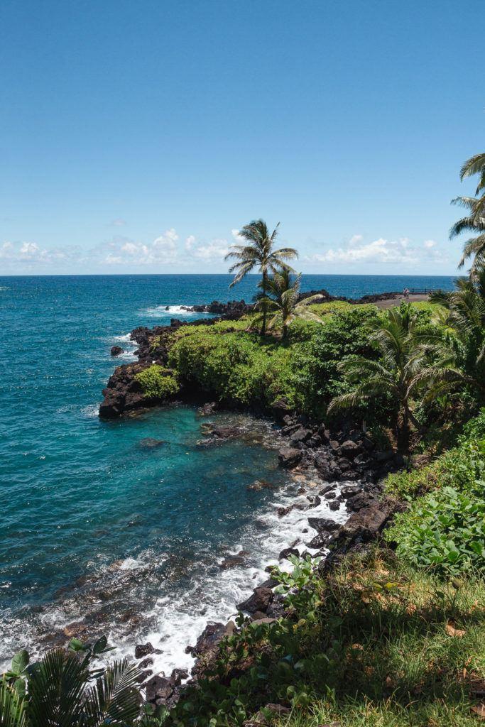Wai'anapanapa State Park on the Road to Hana in Maui