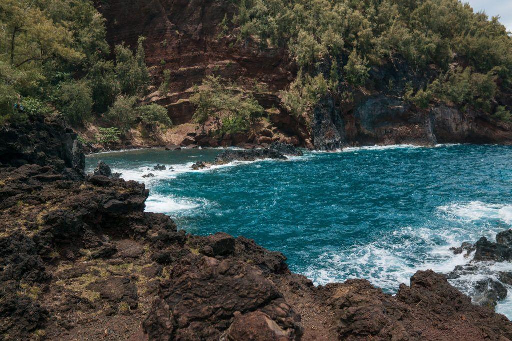 Kaihalulu Beach (Red Sand Beach) in Maui