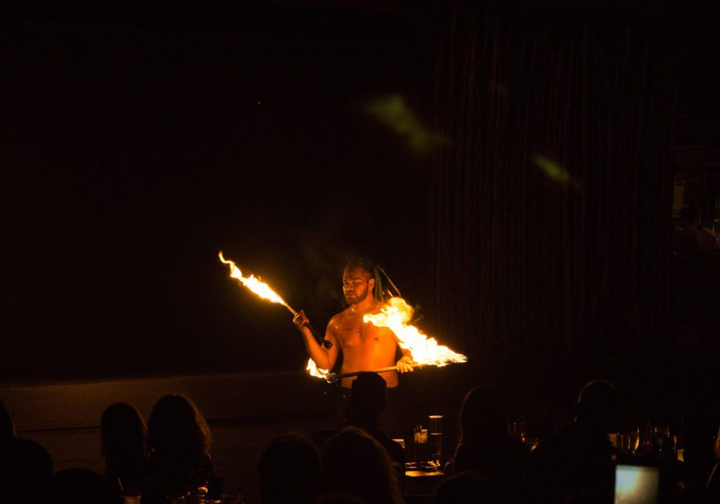 Dances with fire at Feast at Lele.