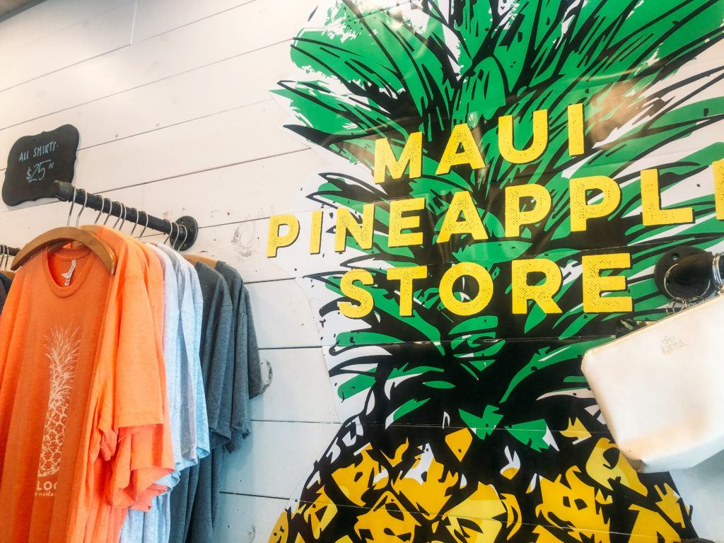 Maui Pineapple Store in Lahaina, Maui.