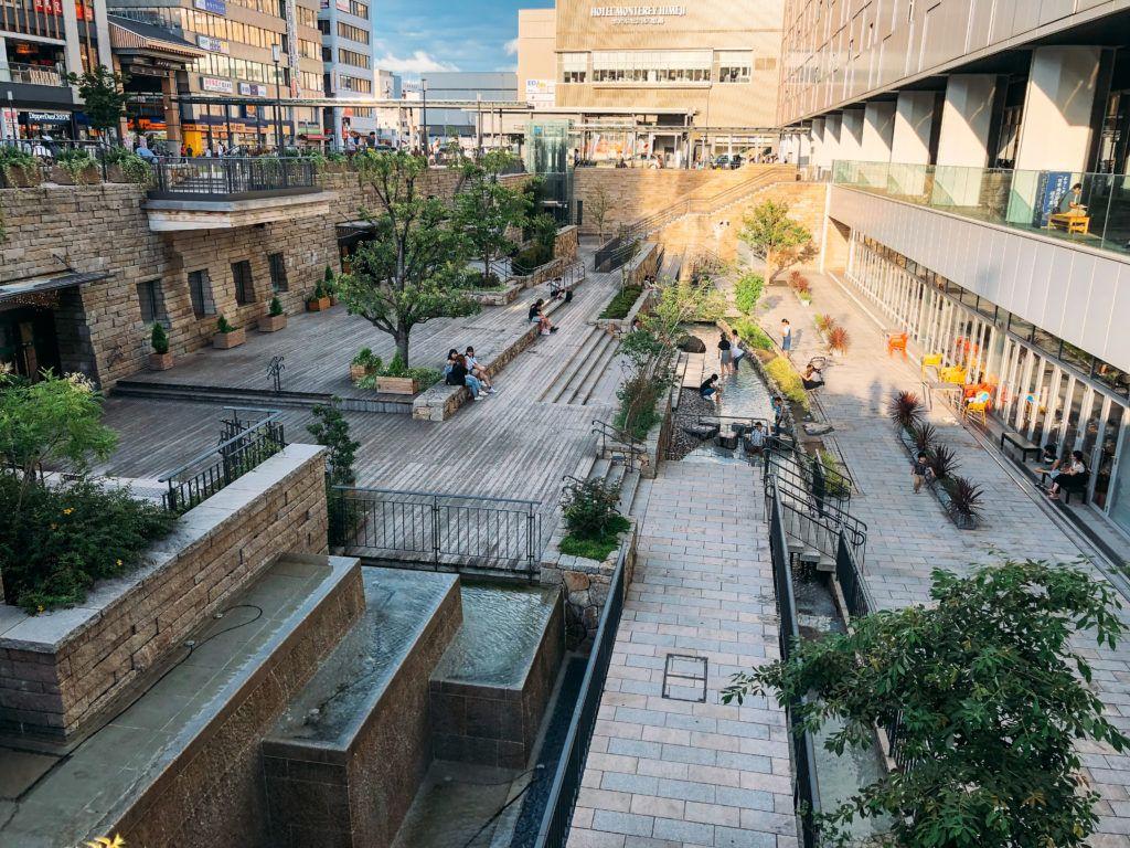 Sunken Garden at JR Himeji Station.