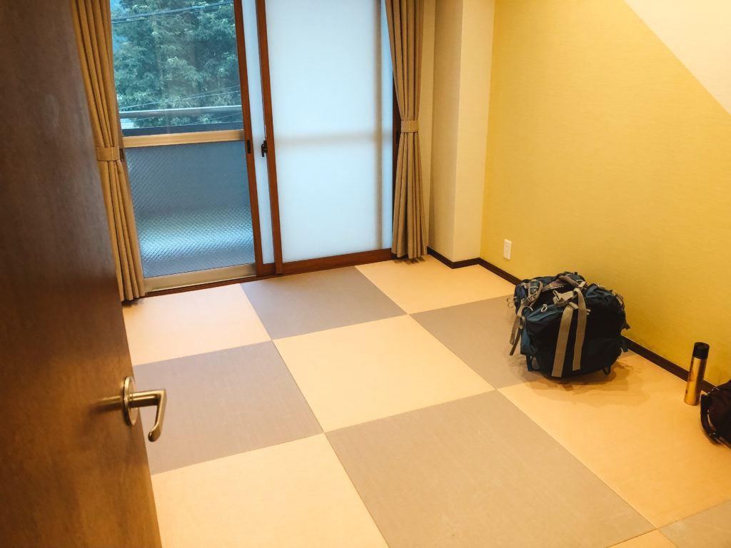 Tabibito no Yado hotel room in Hakone