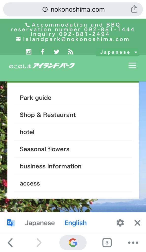 Use Google Chrome to translate websites from Japanese to English.