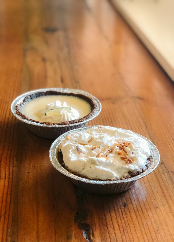Key lime pie and coconut creme pie from Leoda's Kitchen and Pie Shop in Maui