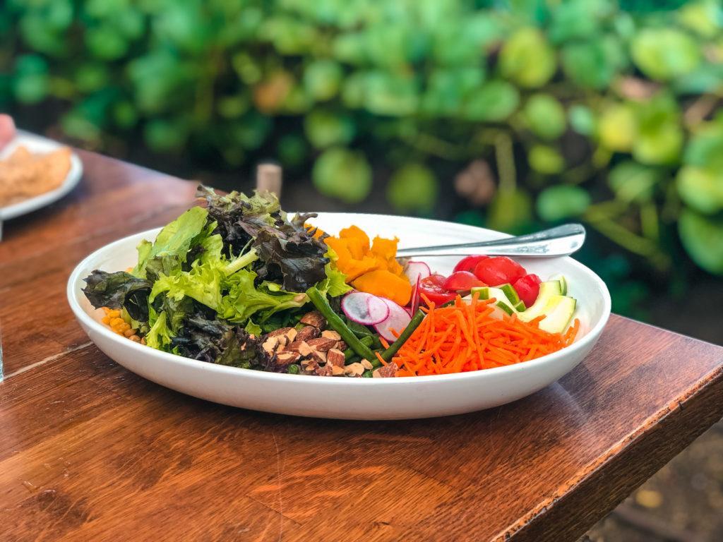 Hoaloha Salad at Aloha Mixed Plate in Maui.