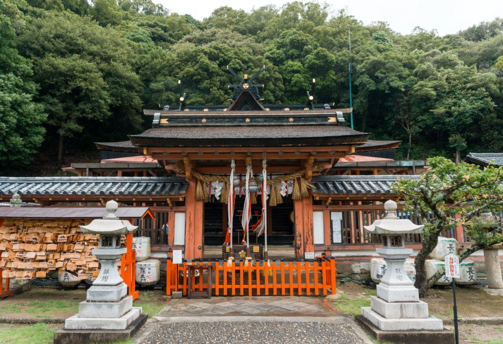 Wakaura Tenmangu Shrine in Wakayama, Japan