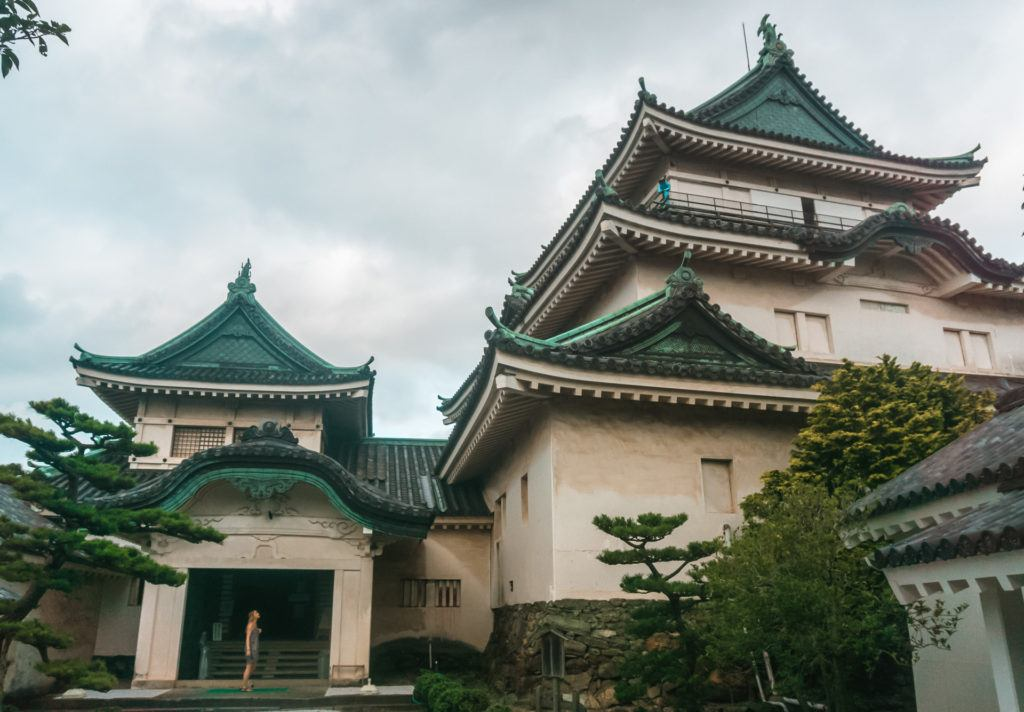 Wakayama Castle in Wakayama, Japan.