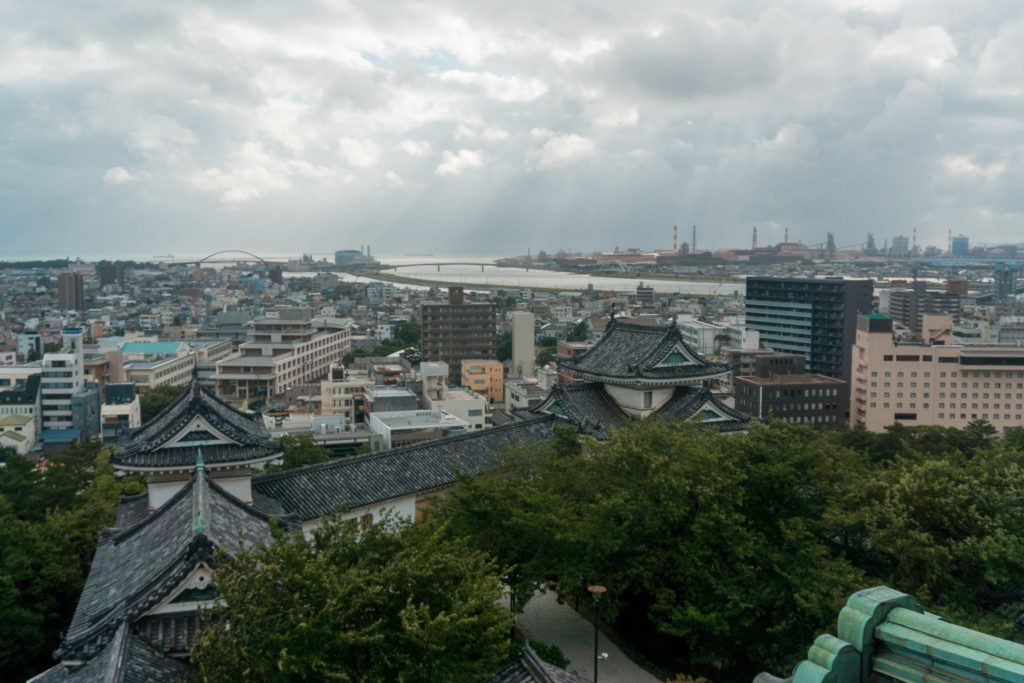 View from the top of Wakayama Castle