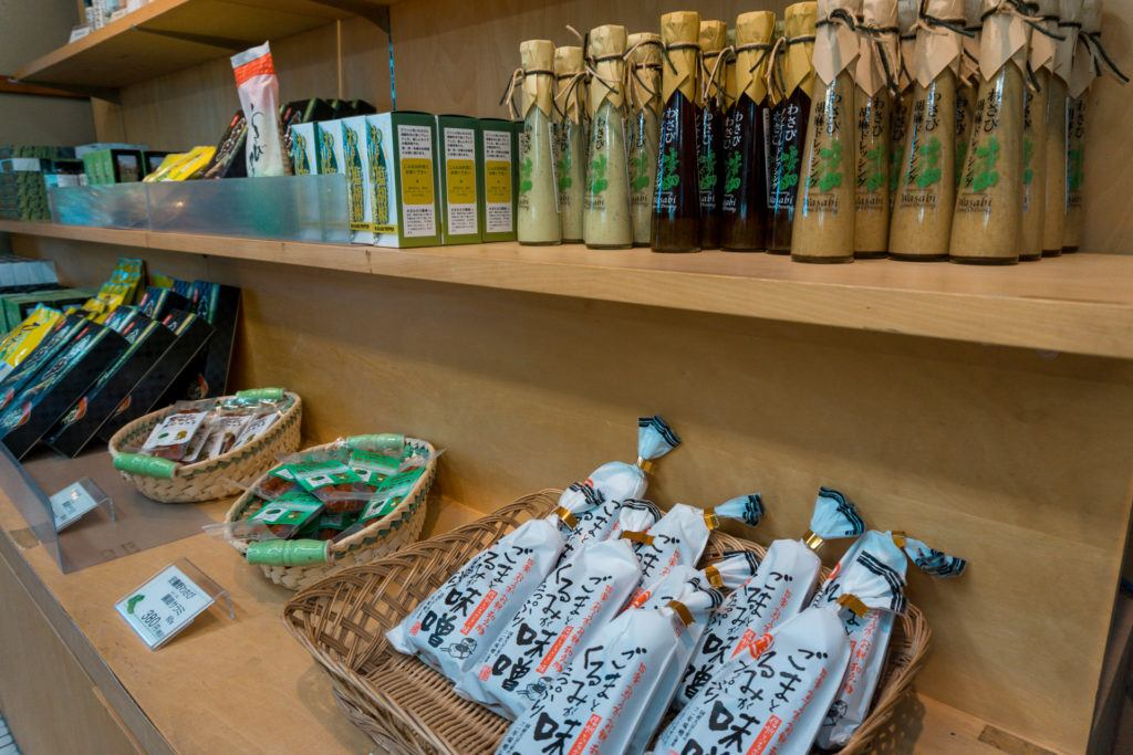 Gift store at Daio Wasabi Farm