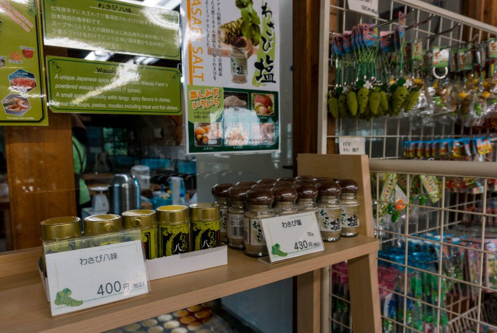 Gift store at Daio Wasabi Farm in Japan
