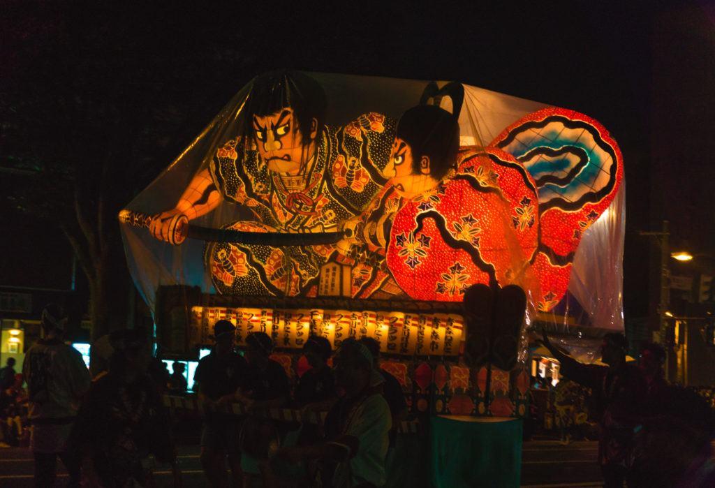 Float at Aomori nebuta festival in Japan