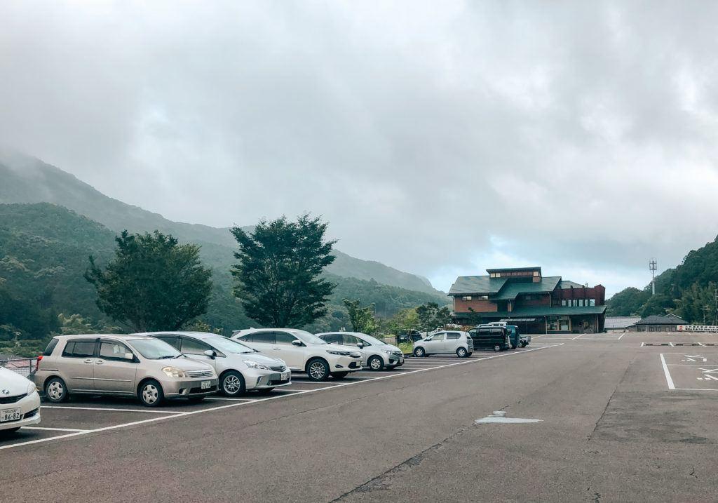 Parking lot for Kumano Kodo Daimonzaka