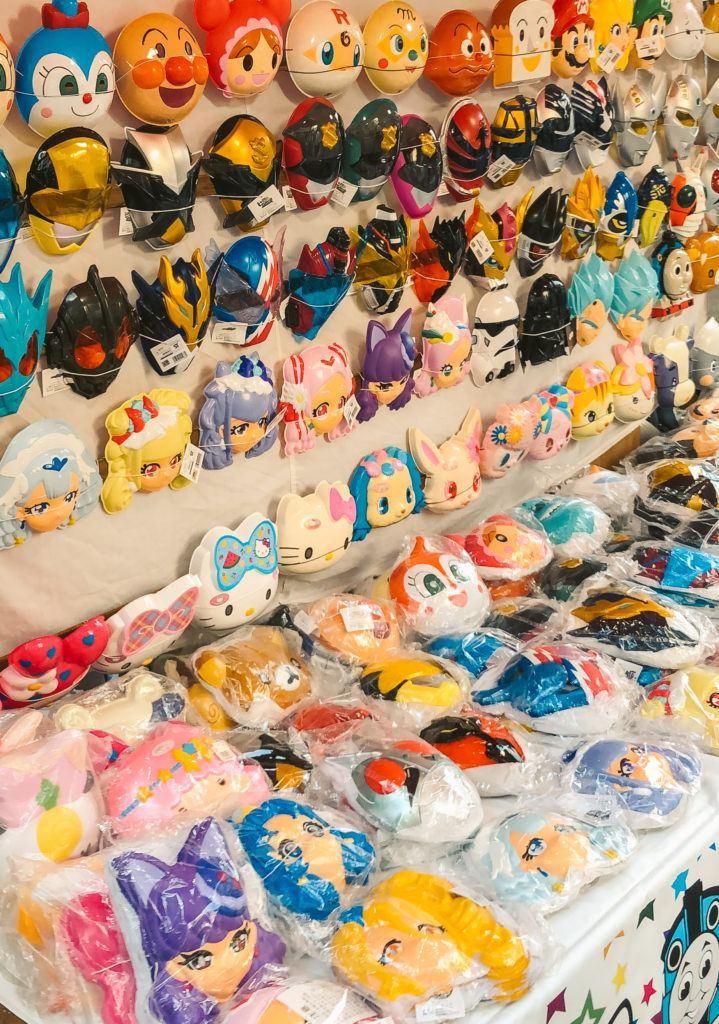 Masks at summer festivals in Japan