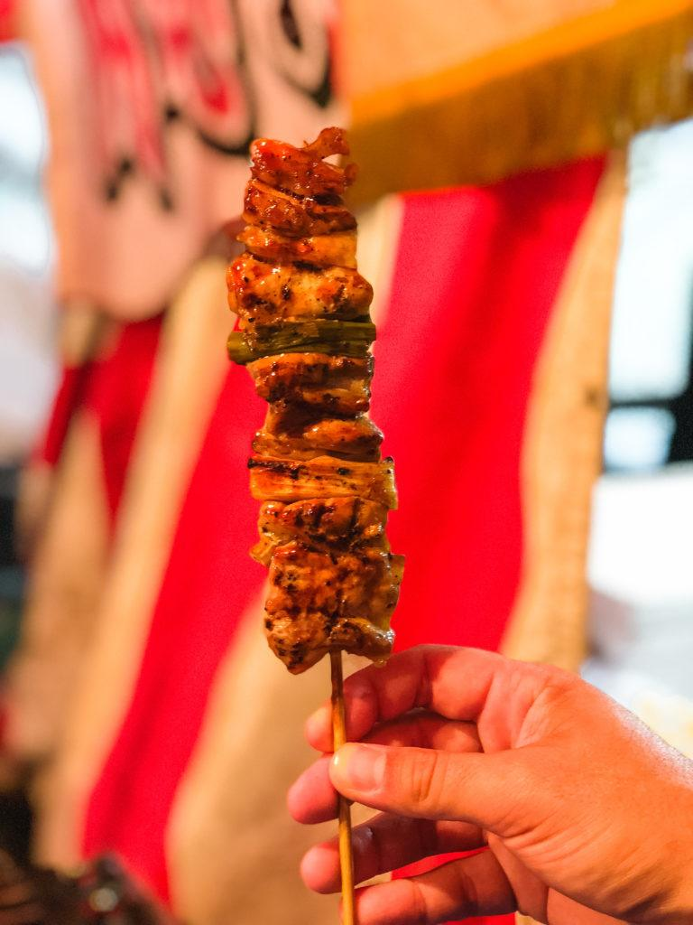 Yakitori, grilled chicken skewer - Japanese food