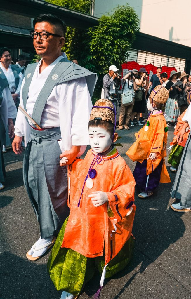 A sacred child at Gion Matsuri in Kyoto