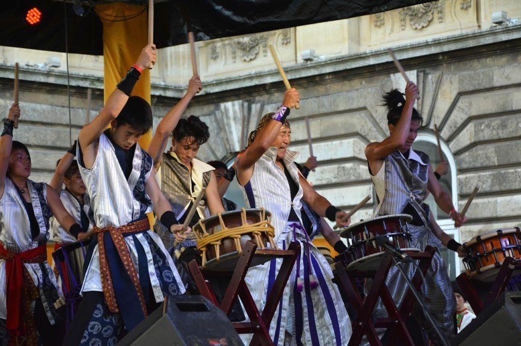 Taiko drums at Obon