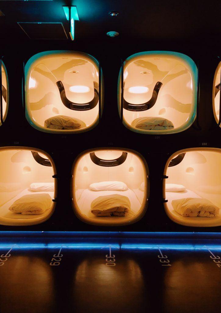 capsule hotel in Japan - Japan bucket list